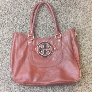 Tory Burch Large Brown Bag w/ Flaws